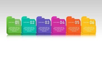Modèle d'infofraphic coloré. vecteur