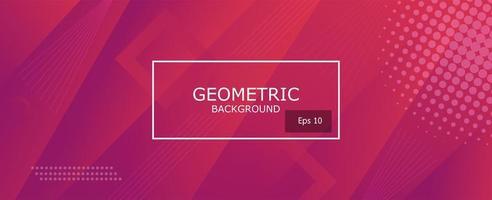 fond de formes géométriques dégradé abstrait violet et rose