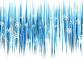 Abstrait Noël avec des flocons de neige