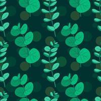 Modèle sans couture vintage dessiné main eucalyptus vecteur