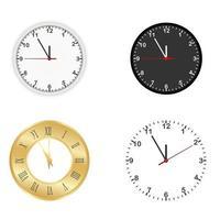 Ensemble d'horloges vecteur