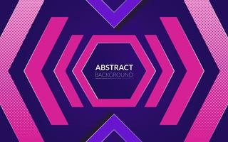 fond abstrait avec le thème de couleur néon et violet et hexagone