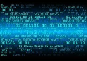 Technologie du futur circuit bleu binaire cyber
