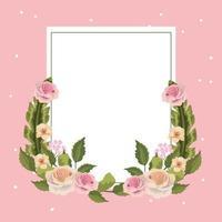 Cadre carré floral vintage