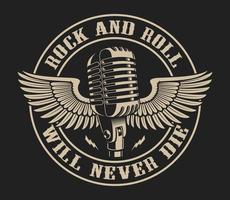 Illustration vectorielle sur le thème du rock and roll vecteur