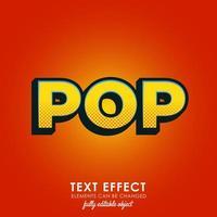 style de texte premium pop vecteur