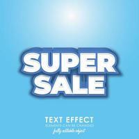 style de texte premium bleu super vente vecteur