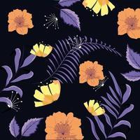 Arrière-plan de motif floral vecteur