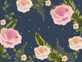 Fond floral vintage