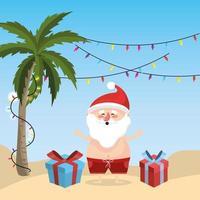 Père Noël en vacances d'été