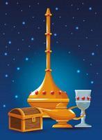 icônes d'éléments arabes vecteur