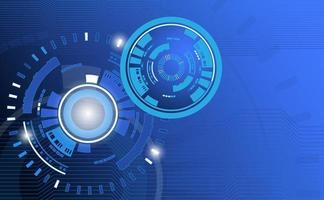 Abstrait de la technologie avec motif cercle et ligne