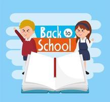 étudiants, garçon fille, porter, uniforme, à, cahier