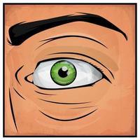 Bandes dessinées Homme aux yeux vecteur