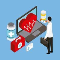 Concept de santé numérique vecteur