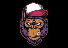 illustration vectorielle tête de gorille