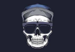 Crâne avec des lunettes