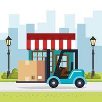 service de livraison de chariot élévateur