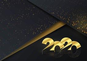 Contexte 2020 pour vos invitations sur le thème des cartes saisonnières et des cartes de voeux vecteur