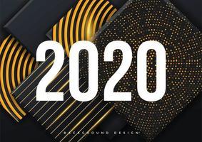 Modèle de fond de carte de voeux 2020 vecteur