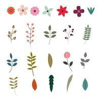 Collection d'éléments floraux