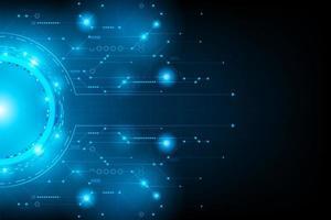 Concept abstrait de circuit futuriste