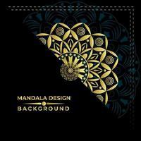 Belle conception de vecteur de fond de mandala