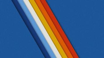 Papier peint rétro à rayures diagonales en papier 3D