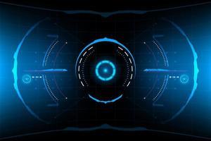 HUD rond futuriste abstrait vecteur