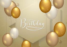 Conception de typographie de célébration de joyeux anniversaire pour carte de voeux