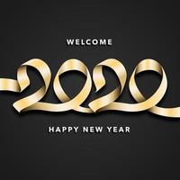 Fond de célébration du nouvel an 2020 vecteur