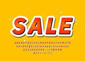 Alphabet de typographie de police 3d coloré