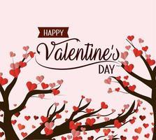 Carte de Saint Valentin heureuse vecteur