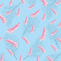 plumes flamandes avec des plantes feuilles fond