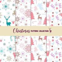 Collection de motifs de Noël pastel