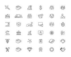 36 jeu d'icônes d'affaires mixtes vecteur