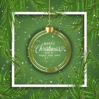 Fond de Noël avec boule suspendue