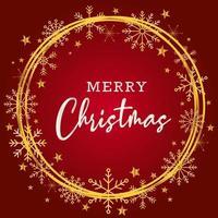 Beau fond de joyeux Noël en rouge et or