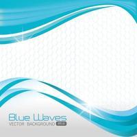 Conception de fond de vagues bleues. vecteur