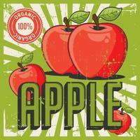 Vecteur de signalisation rétro vintage Apple