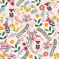 Motif de fond floral Vintage vecteur