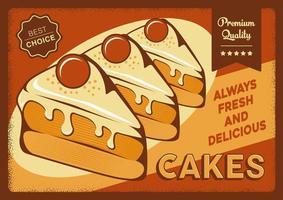 Affiche de signalisation de gâteaux rustique vecteur