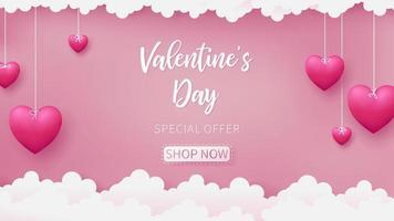 Saint-Valentin de la conception artisanale en papier