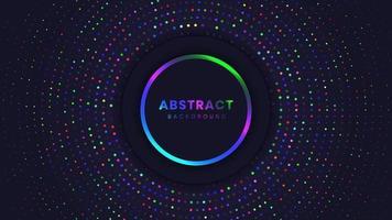 Abstrait avec des cercles de lumière vecteur