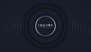 Fond sombre luxueux avec des cercles abstraits vecteur