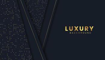 Fond de luxe avec effet de coupe de papier doré
