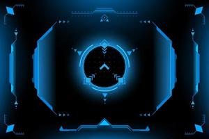 Interface utilisateur du panneau HUD VR vecteur
