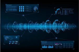 Onde sonore futuriste abstraite avec lumière parasite