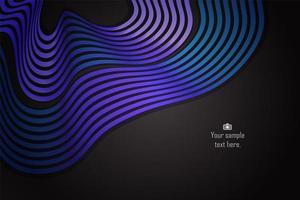 Courbe abstraite dégradé bleu et violet et ondulé vecteur