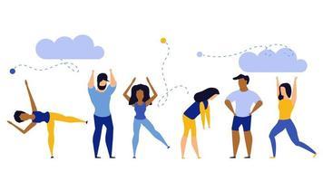 Réalisation exercice concept de santé corps plat santé